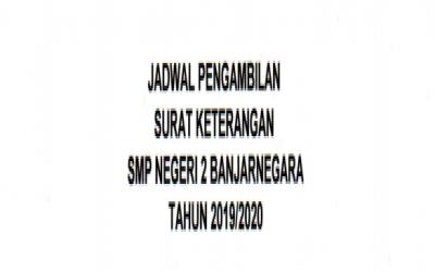 JADWAL PENGAMBILAN SURAT KETERANGAN LULUS TA. 2019/2020